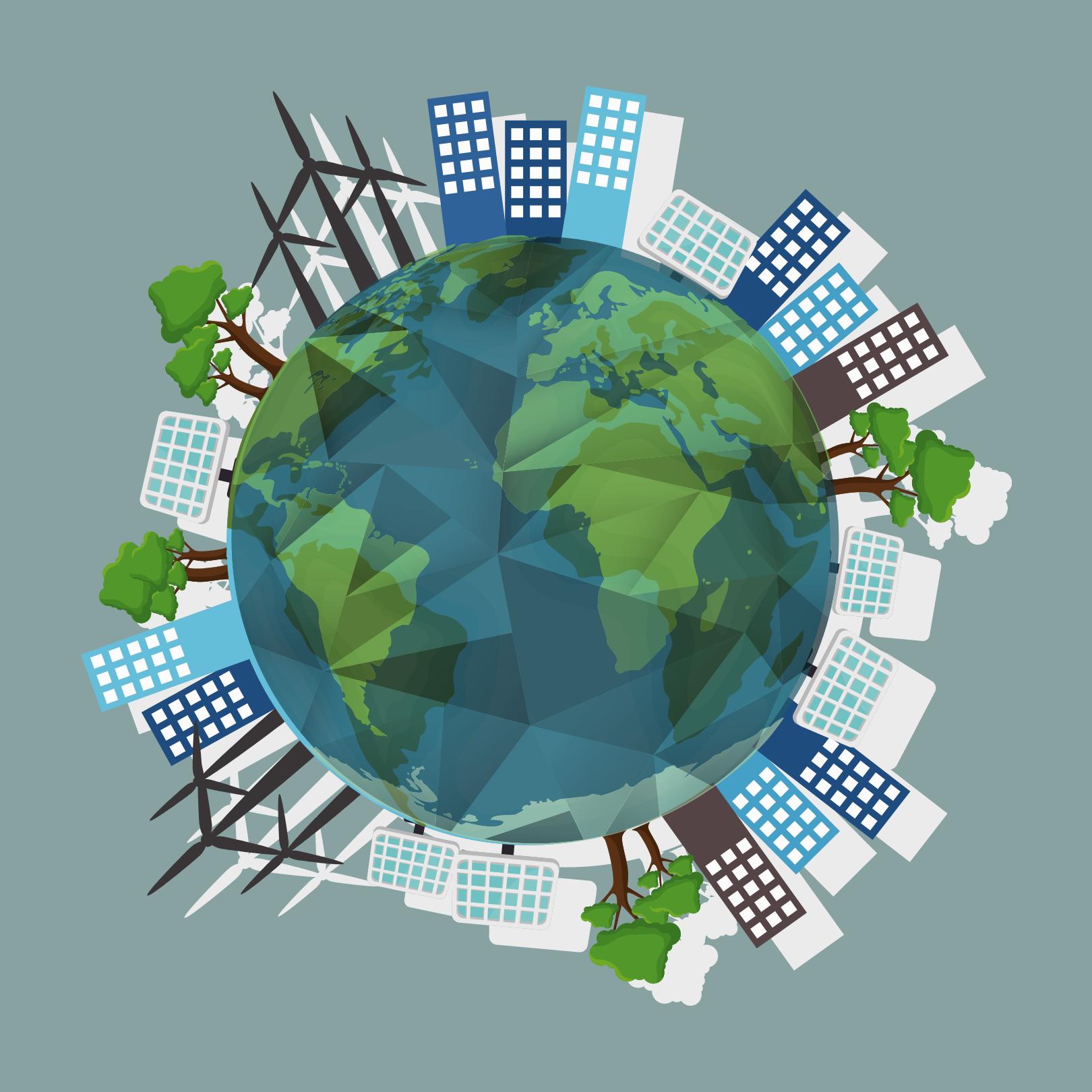 Earth Illustration Sustainability Post